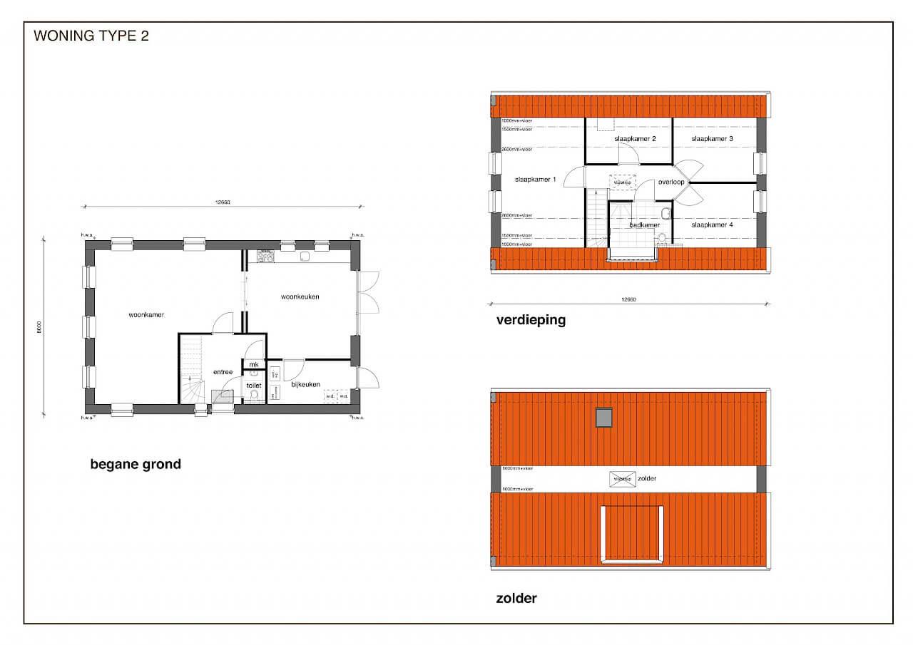 TYPE 2 nieuwbouw woning: Landelijk klassiek in