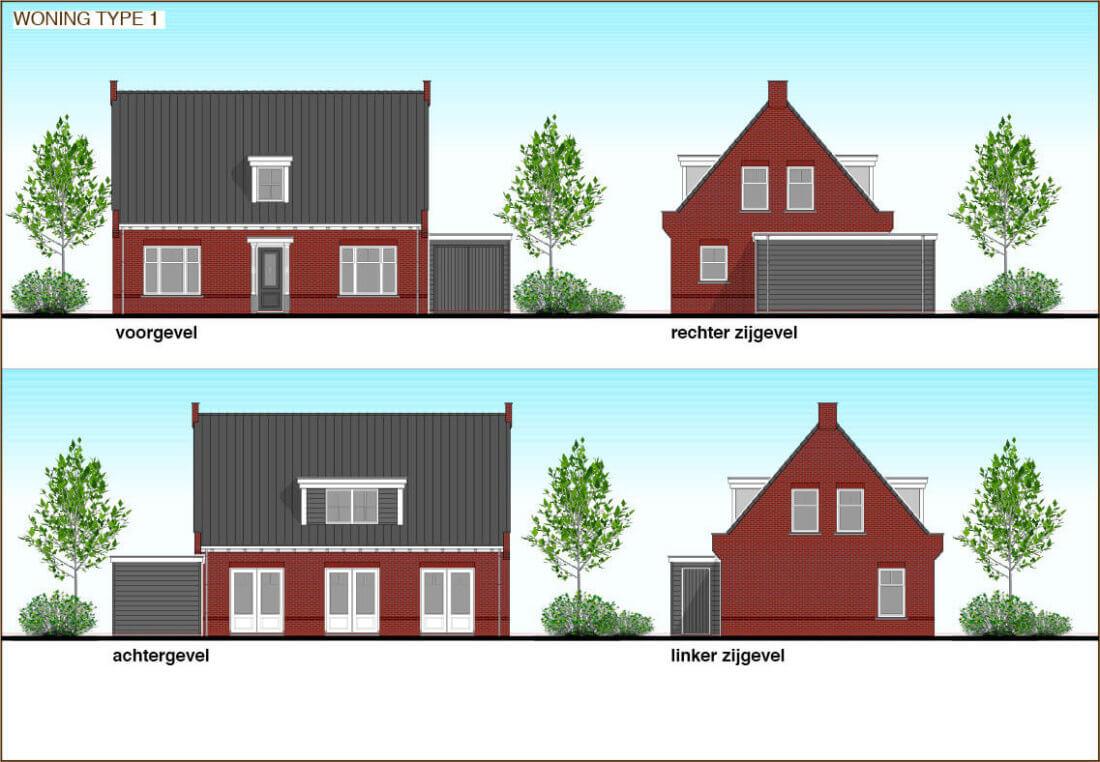 TYPE 1 nieuwbouw woning: Romantisch in