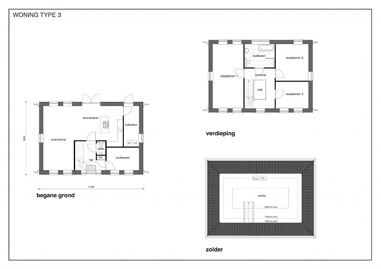 TYPE 3 nieuwbouw woning: Notariswoning in