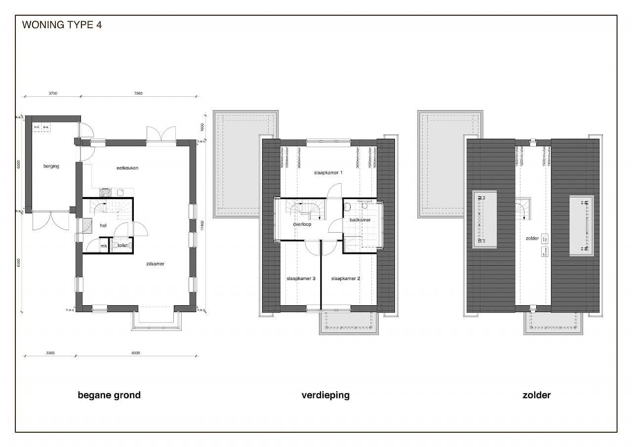TYPE 4 nieuwbouw woning: Jaren dertig 'light' in