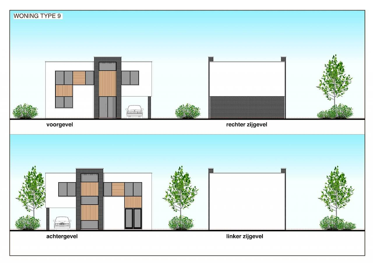 TYPE 9 nieuwbouw woning: Moderne minimalisme in