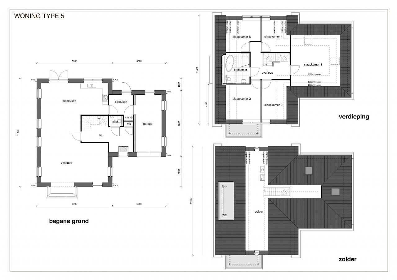 TYPE 5 nieuwbouw woning: Jaren dertig in