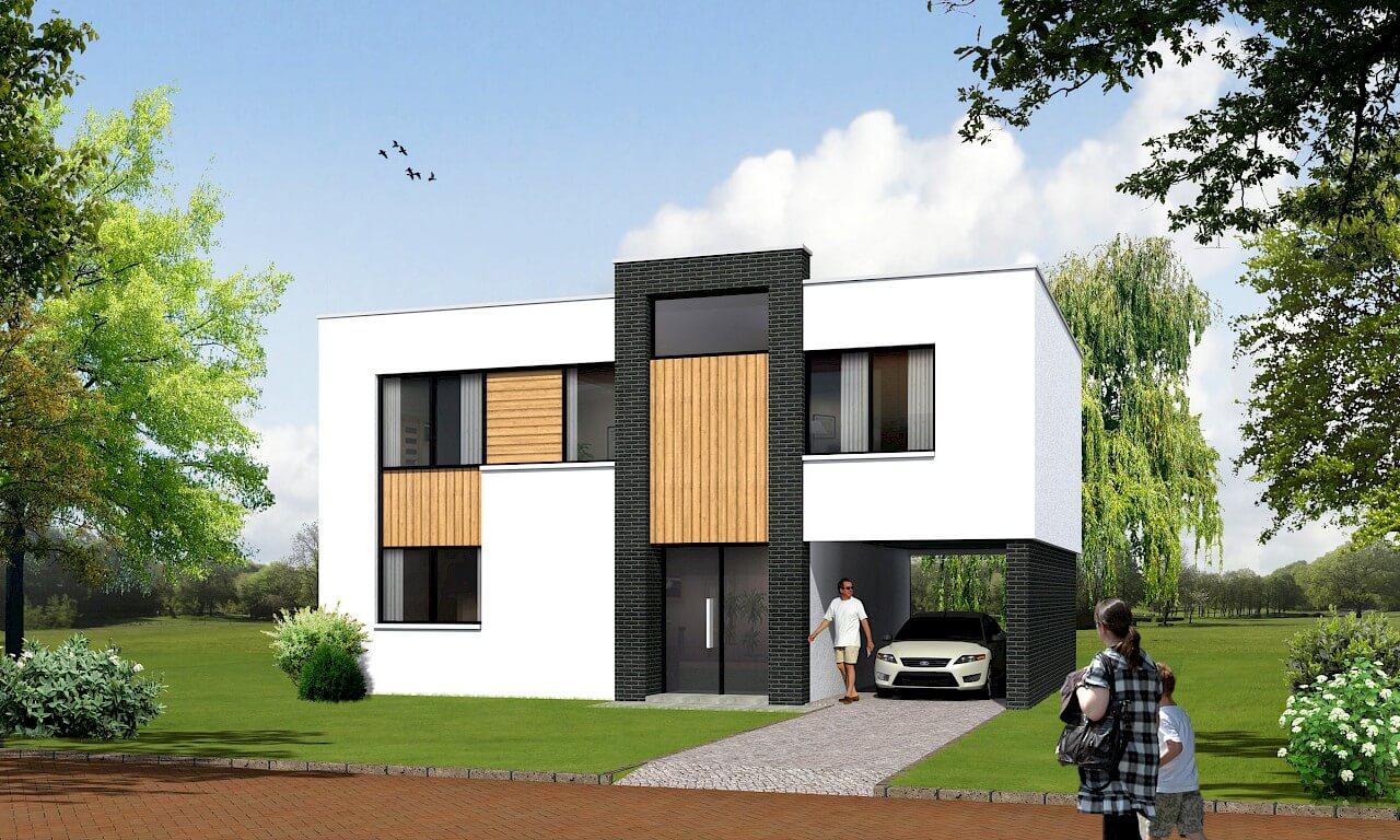 Modern huis laten bouwen Aannemersbedrijf Wendelgelst