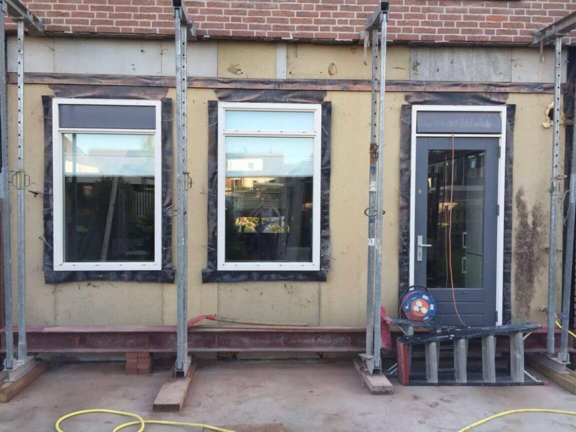 Uitbouw woning Rijsenhout in aanbouw