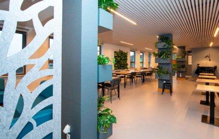 Verbouwing lerarenkantine Haarlemmermeer Lyceum in Hoofddorp